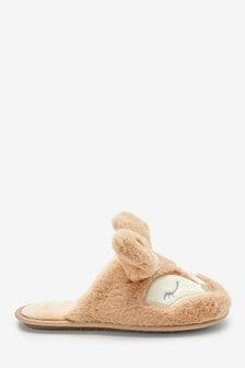'Ferne' Fox Mule Slippers