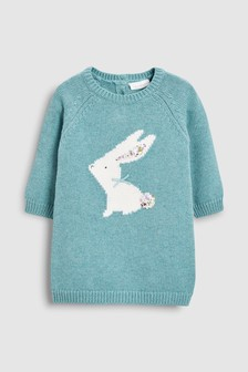 Bunny Knitted Dress (0mths-2yrs)
