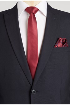 Tie With Floral Pocket Square