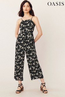 Oasis Natural Daisy Print Jumpsuit