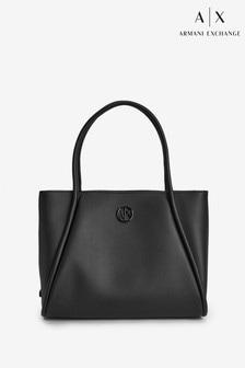 Armani Exchange Black Handle Tote Bag