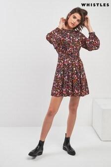 Whistles Meadow Print Flippy Dress
