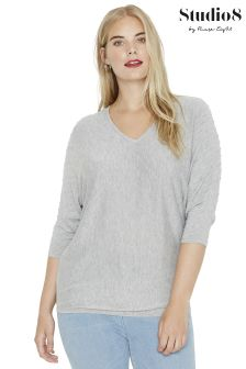 Studio 8 Grey Cara Spot Stitch Core Jumper