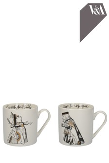 Set of 2 V&A Alice In Wonderland His And Hers Mugs