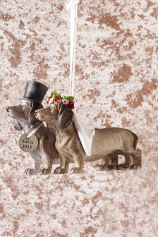 Est 2019 Dachshund Hanging Decoration