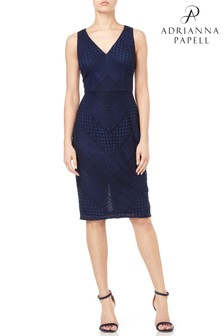 Adrianna Papell Vintage Stripe Lace Sheath Dress