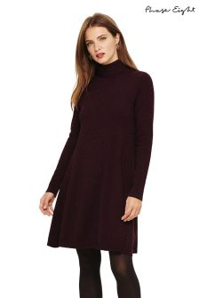 Phase Eight Red Melody Fleck Swing Knit Tunic