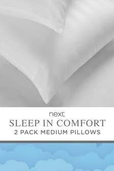 Set of 2 Sleep In Comfort Medium Pillows