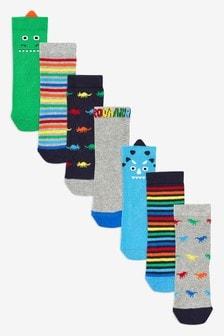 Dinosaur Socks Seven Pack (Younger)
