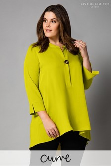 Live Unlimited Yellow Lime Shirt With Button Detail
