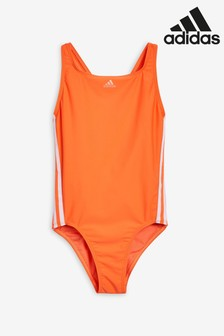 adidas Orange 3 Stripe Swimsuit