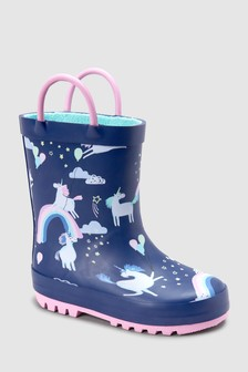 Unicorn Print Wellies (Younger)