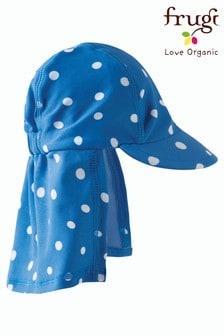 Frugi Blue Polka Dot Oeko-Tex Legionnaire's Hat