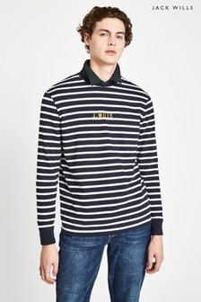 Jack Wills Blue Shearer Stripe Long Sleeve Tee