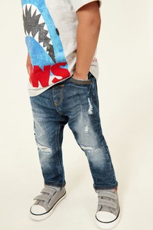 Distressed Five Pocket Jeans (3mths-7yrs)
