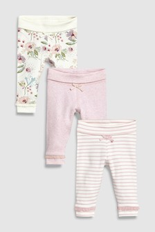 Floral Leggings Three Pack (0mths-2yrs)