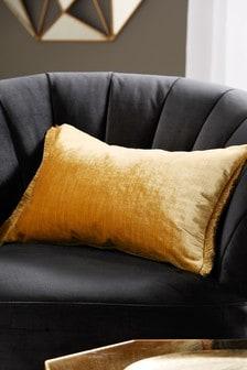 Plush Velvet Fringe Cushion