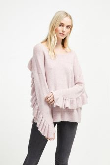 French Connection Pink Frill Jumper