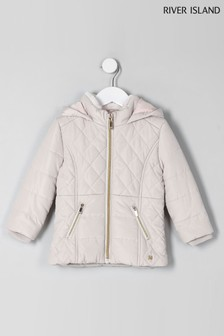d27dd5dde469 River Island Cream Short Padded Quilted Jacket