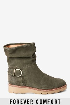Forever Comfort® Wedge Slouch Ankle Boots