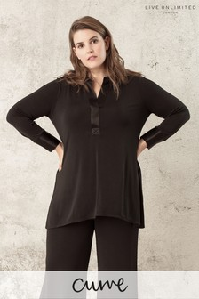 Live Unlimited Black French Crepe Shirt