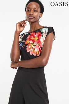 c0d03fe17 topstshirts Tops Women Black Black Oasis Oasis | Next Australia