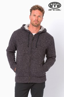 Animal Grey Coldwater Wadded Knit Zip Hoody
