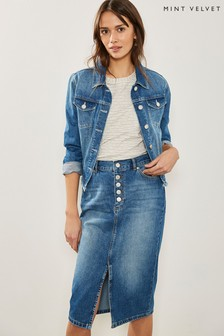 Mint Velvet Indigo Denim Western Jacket