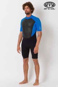 Animal Black Men's Nova Shorty Back Zip Wetsuit