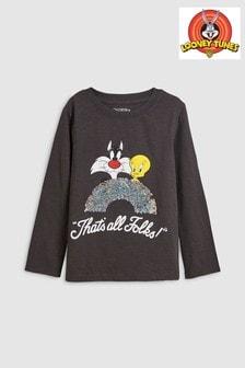 Flippy Sequin Looney Tunes Long Sleeve T-Shirt (3-16yrs)