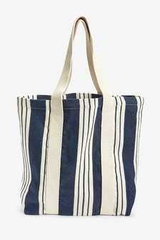 Canvas Stripe Shopper Bag
