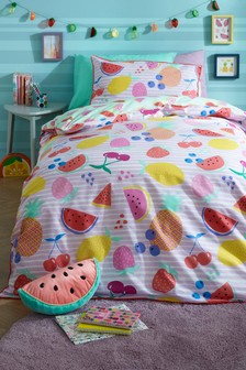Fruity Duvet Cover and Pillowcase Set