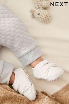 Two Strap Pram Shoes (0-24mths)