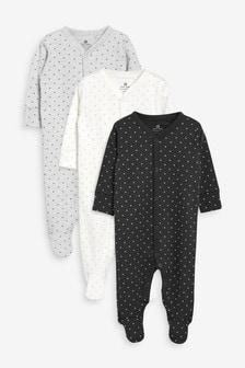Mini Stars Sleepsuits Three Pack (0mths-2yrs)