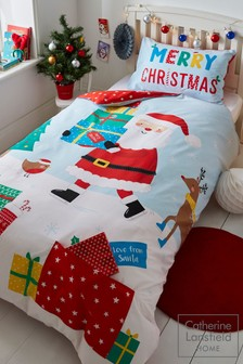 Catherine Lansfield Love From Santa Christmas Duvet Cover And Pillowcase Set