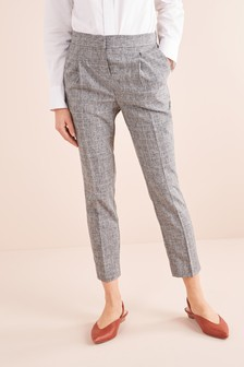 Elastic Back Taper Trousers