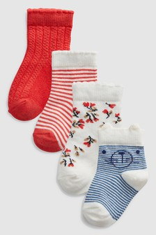 Coral Socks Four Pack (Younger)