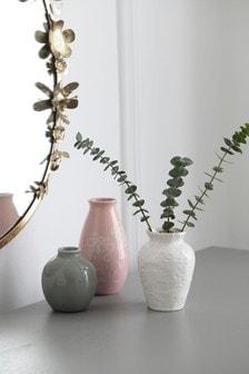 Set of 3 Pretty Ceramic Vases