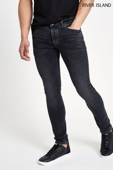 River Island Washed Black Skinny Jeans