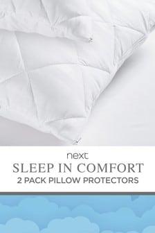 Set of 2 Sleep In Comfort Pillow Protectors