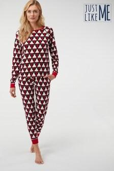 Women's Matching Family Geo Penguin Pyjamas