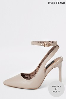 River Island Wide Fit Light Pink Court Shoe