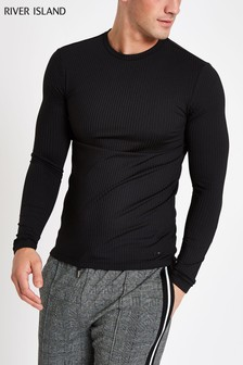River Island Ribbed Crew Neck Top