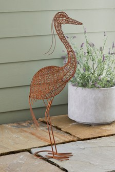 Wire Heron Sculpture