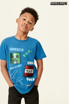Minecraft Sequin Change T-Shirt (4-14yrs)