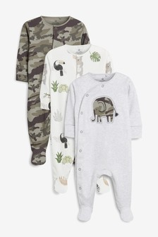 Character Print Sleepsuits Three Pack (0mths-2yrs)