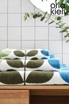 Orla Kiely Green Trio Stem Towel