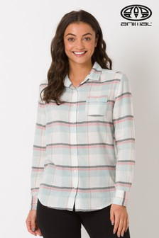 Animal White Thalier Checked Shirt