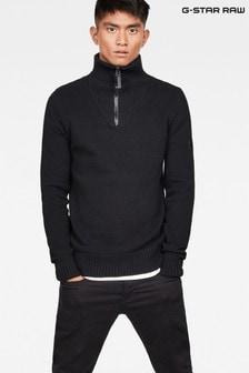G-Star Omohundro Hooded Half Zip Sweater