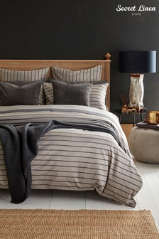Secret Linen Store Breton Stripe Duvet Cover